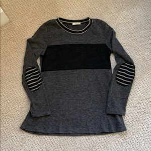 12PM by Mon Ami Sweater Patch Sleeves